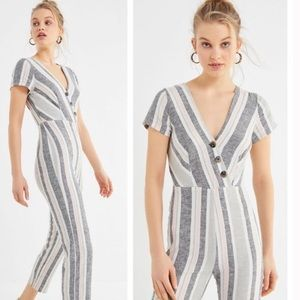 UO Linen Striped Jumpsuit